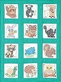 Jack Dempsey Forest Friends Nursery Quilt Blocks