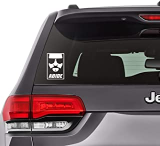 The Dude - Abide Decal Sticker, Bumper, Laptop, Notebook, Car Window 5.3