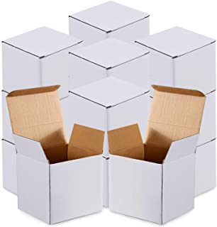 Cardboard Box,25 Pieces White Cardboard Box Kraft Corrugated Small Mailing Boxes Christmas Gift Boxes,White Kraft Paper Pr...