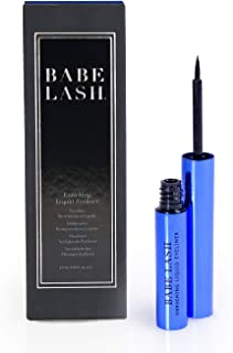 Babe Lash Enriching Liquid Eyeliner, Liquid Eyeliner with Peptides, Smooth, Precise, Slim & Long Lasting, Water Resistant, Smudge-proof, Pigmented for Definition, Perfect for Eye Makeup, Black, 1.5 ML