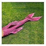 Bikini Coda A Sirena Coda di Sirena per Piscina Costume da Bagno con Coda A Sirena per Adulti/Bambini/Uomini/Donne/Piscina/Festa/Esterno/Foto(Color:Multicolor 2)