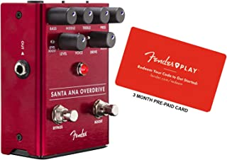 Fender Santa Ana Overdrive Guitar Effects Pedal Bundle w/Fender Play 3-Month Pre