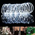 BlueFire Solar Rope Lights, 12M/39ft 100 LEDs Automatically Turn ON/OFF 2 Lighting Modes Decorative Lights for Outdoor/Indoor/Garden/Tree Christmas Wedding(White)