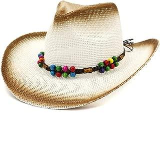 XinLin Du Summer Womem Men Straw Cowboy Hat Sun Hat Lady Outdoor Beach Hat Color Woven Rope Fashion Visor