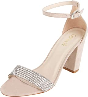 Catwalk Women's Beige Block Heel Sandals Fashion