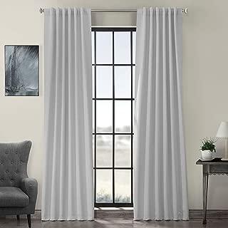 HPD HALF PRICE DRAPES BOCH-171101-120 Blackout Room Darkening Curtain, 50 X 120, Artic Grey