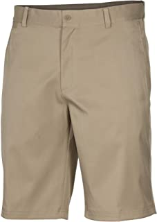 Mens Flat Front Stretch Golf Shorts Khaki