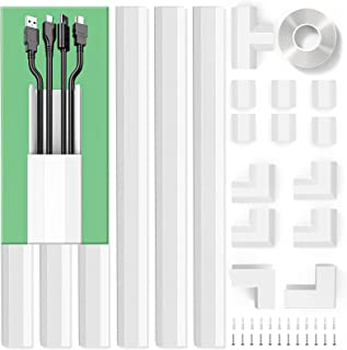 Upgrade Cable Concealer, PVC Cord Cover, 94.5in Paintable Cord Hider to Hide Wires for TV and Computers in Home Office 6X ...