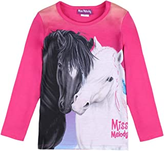 Miss Melody Niña T-Shirt, Manga Larga, Pink