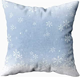 Ducan Lincoln Pillow Case 2PC 18X18,Fundas De Almohada,Copos De Nieve De Navidad De 16X16 Pulgadas,Fondo Azul Aislado Fundas De Almohada De Sofá,Fundas De Almohada,Verde Púrpura