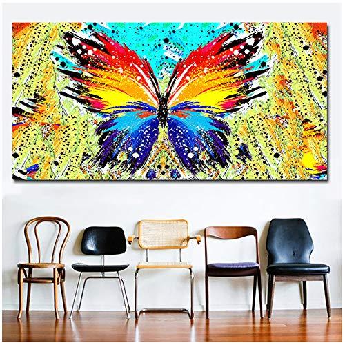 juntop Quadri Astratti Quadri Colorati di Farfalle Stampe d'Arte da Parete Poster Immagine per Soggiorno Decorazioni per la casa 50x100 cm / 19,7
