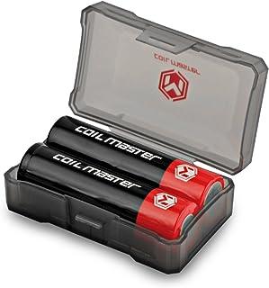 Coil Master18650 全ての電池用電池ケース 電池ホルダーケース サイズ18650&それよりも小さいサイズ向け (2個用)