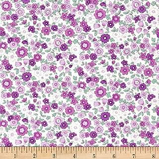 Robert Kaufman 0465585 Kaufman Sevenberry Petite Garden Med flower Spray Purple Fabric by the Yard