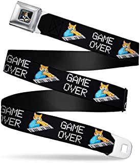 Buckle-Down Seatbelt Belt - Keyboard Cat Cartoon GAME OVER - 1.0