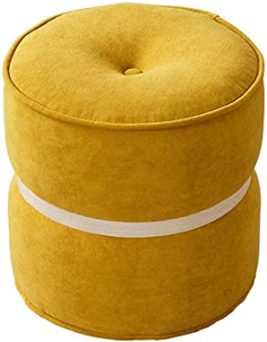 WERSDF Footstool Macarons Home Small Round Stool Fashion Creative Shoes Bench Modern Minimalist Fabric Sofa Bench