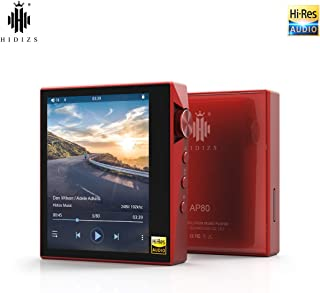 HIDIZS AP80 Ultraportable HiFi Music Player Bluetooth MP3 Player High Resolution Audio Player (Red)