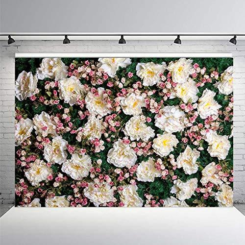 Decoración de Flores de Boda Escena de cumpleaños Fondos fotográficos Personalizados Fondos de fotografía para Estudio fotográfico A5 10x10ft / 3x3m