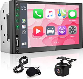 $89 » Sponsored Ad - Double Din Car Stereo Compatible with Apple Carplay & Android Auto Play Hikity 7 Inch Touch Screen Car Radi...