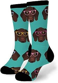 Unisex Novelty Funny Crazy Colorful Athletic Sports Crew Dress Tube Socks
