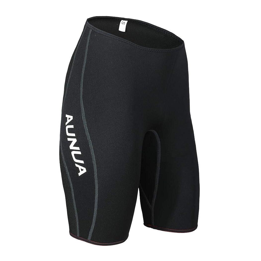 辞書熱心な予言するAunua プレミアム 3mm ネオプレン ウェットスーツ ショートパンツ カヌー 水泳用ショーツ