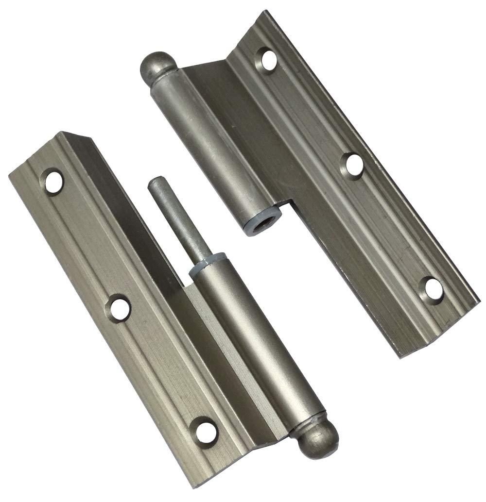 AERZETIX 2x Bisagras de pernios para puertas /ángulo derecha 100х60х2.2mm aluminio C42778