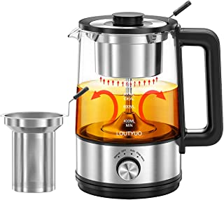 1L 600W Electric Tea Kettle with New Tea-brewing Method, Dual Boiling Modes with Basket and Infuser, Auto-Shutoff and Boil...