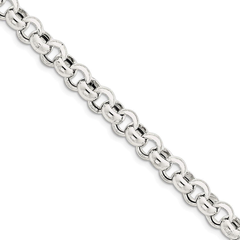 Beautiful Sterling silver 925 sterling Sterling Silver 9.5mm Rolo Bracelet