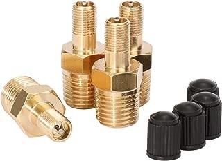 Fuel Rail Pressure Gauge Adapter Schrader Valve Opener Pipe 1//8 NPT End