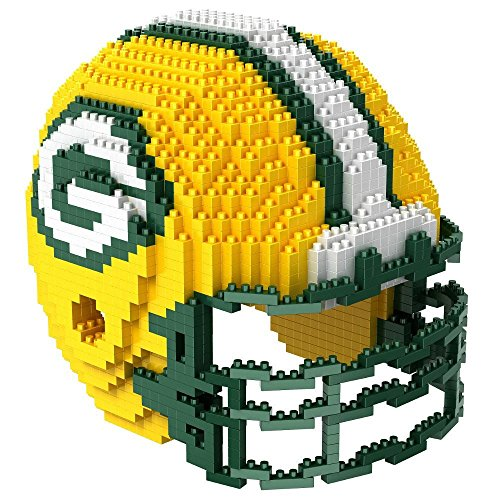 NFL Green Bay Packers Mini BRXLZ Helmet Building Blocks, One Size, Green