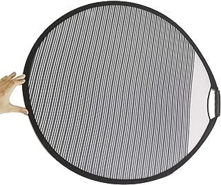 Wangyihan 80CM Striped Reflector Car Line Board Foldable Reflector Board Light Reflector Dent Repair (1)