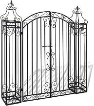 Luangfim Ornamental Garden Gate, Outdoor Rustproof Decorative Garden Fence Entry Gates Driveway Cottage Gate Wrought Iron ...