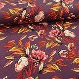 Schickliesel Jersey Stoff Meterware Indian Summer Flowers