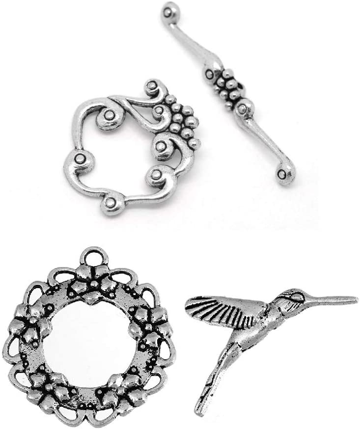 JGFinds Grapevine Hummingbird Bracelet Toggle 20 Pack New mail order Albuquerque Mall - Clasps