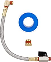 Hromee Extended Tank Drain Valve Assembly Kit with 10 Inch Flexible Braided Steel Tube..