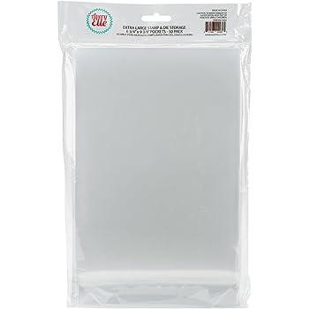 Medium Stamp /& Die Pack of 200 USDISC Storage Pockets 6.25 x 6.25 Clear Flap