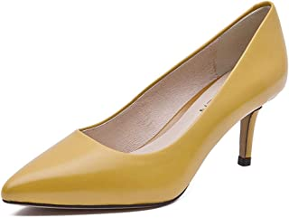 BLUMEN Women Pump Shoes Eternal Mustard Leather Casual