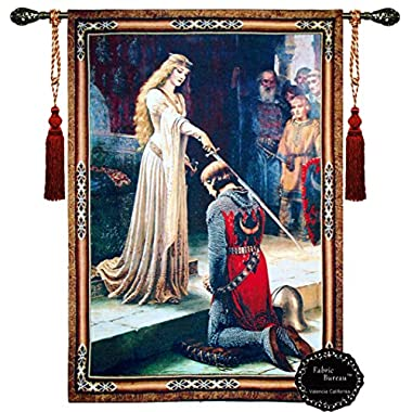 Beautiful the Accolade Medieval Fine Tapestry Jacquard Woven Wall Hanging Tapestry (Yw001) (30 X43 )