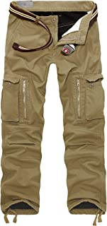 g style usa men's solid fleece cargo pants