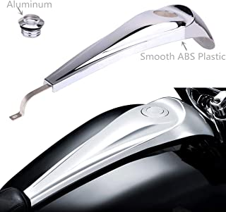 AUFER Chrome Signature Jim Nasi Smooth Dash Oil Fuel Console with Vented Fuel Tank Cap for Touring Electra Glides Road Glides Street Glides & Street Glide Trikes 2008-2018