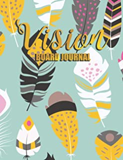 Vision Board Journal: Prompted Law of Attraction Workbook Motivational Goal Planner Manifestation Visualization Book for M...