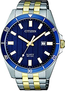 ساعة كوارتر للرجال من ستيزين، بشاشة عرض انالوج وسوار من الستانلس ستيل - طراز BI5054-53L