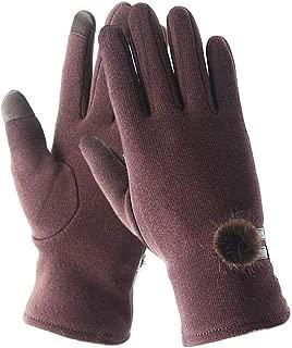 WUXiaodanDan Women's stretch gloves cotton warm gloves bike plus velvet gloves
