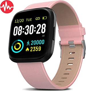 MorePro Smart Watch IP68 Waterproof Activity Tracker with Heart Rate Blood Pressure Monitor, Sleep Tracking Fitness Watch with Android & iOS Calorie Step Counter Touch Screen Pedometer for Women Men