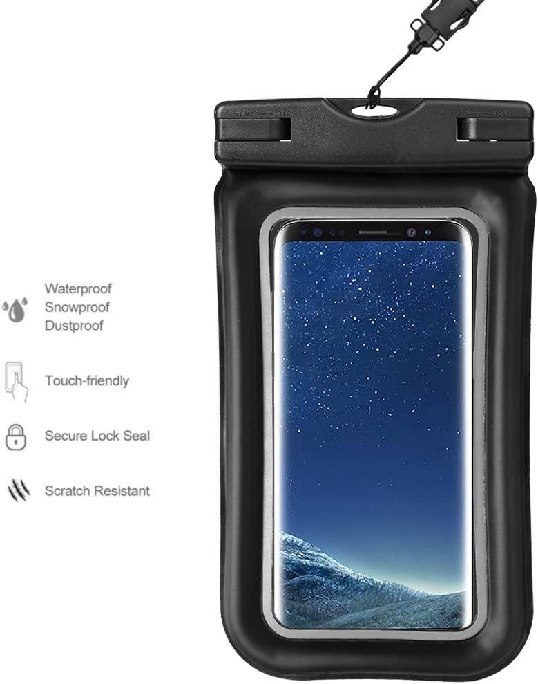 Universal Cellphone Waterproof Pouch Dry Bag Underwater Case for iPhone 12 Pro Max/Samsung Galaxy S21 Ultra / S20 FE / Note20 Ultra / A71 / A51 / A52 / A31 / A10s / BLU G91 / Google Pixel 5 / 4a 5G