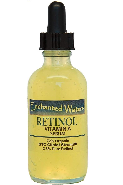 Vitamin A 2.5% Serum Hyaluronic Acid for Anti Aging Wrinkle Acne Facial Face 72% Organic Skin Repair 1.2 Oz