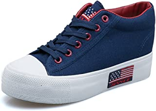 lcky Summer Slope with Canvas Shoes Women's Sports Shoes Platform Casual Shoes