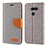 LG G8 ThinQ Case, Oxford Leather Wallet Case with Soft TPU