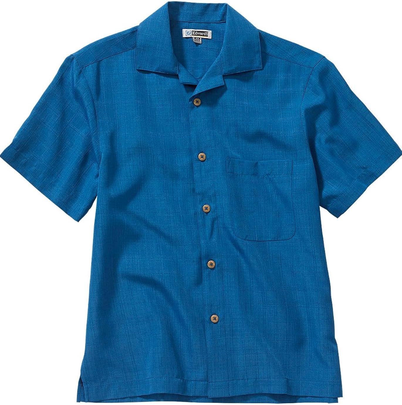 Ed Garments Men's 1030 Classic Camp Style Button Down Shirt(Sapphire 5Xlt)
