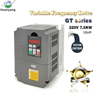 Vector Control CNC VFD Variable Frequency Drive Controller Inverter Converter 220V 7.5KW 10HP for Motor Speed Control HUANYANG GT-Series (220V, 7.5KW)
