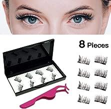 3D Dual Magnetic Eyelashes No Glue Reusable Handmade False Eyelashes Set Soft Natural Look With Eyelash Tweezers